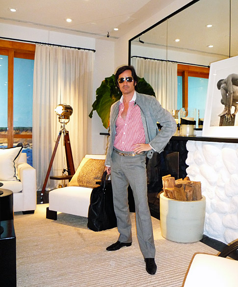 James Andrew at the Ralph Lauren Home Collection