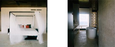 Bedroom and Bathroom at Casa Kimball - photos Hilary Ferris White