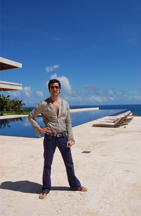 James Andrew at the Casa Kimball Infinity Pool