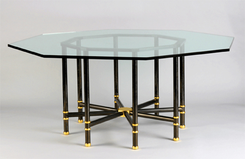 Jansen-style octagonal dining table at Liz O'Brien