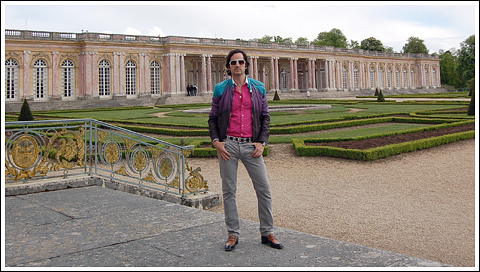 James Andrew at the Grand Trianon.