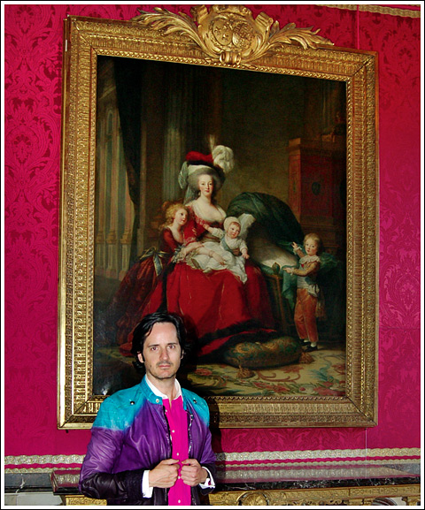 James Andrew and portrait of Marie-Antoinette.