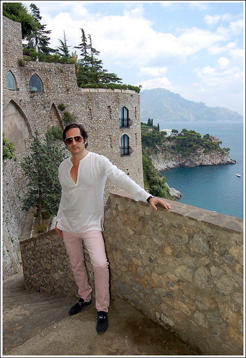 James Andrew at Il Sarceno Grand Hotel.