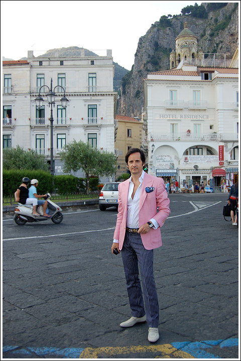 James Andrew in the  town of Amalfi.