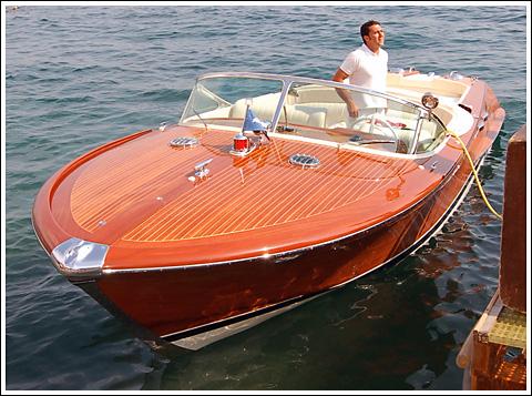 1973 Riva Aquarama speedboat.