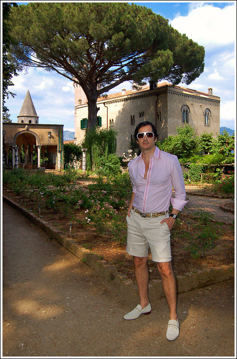 James Andrew at the Villa Cimbrone.
