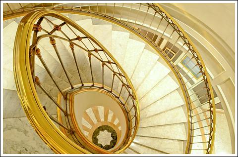 Snail Staircase at the Villa Magna Hotel