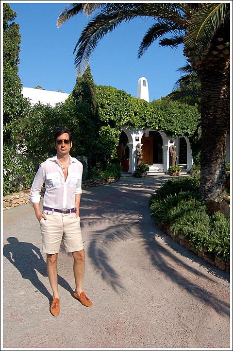 James Andrew at the Hacienda Na Xamena.