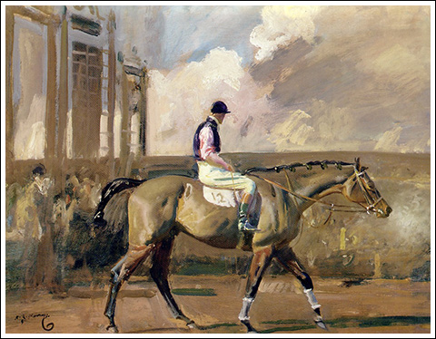 "Sir Alfred Munnings ""After the Race."" 1866"