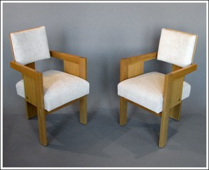 Pair of Sornay oak armchairs F.P. Victoria