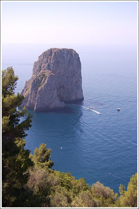 The Faraglioni rocks.