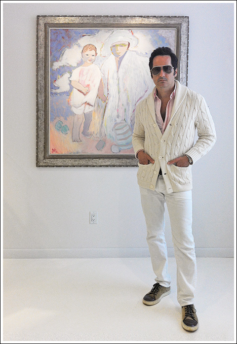 James Andrew at the 1st Dibs Gloria Vanderbilt exhibition.
