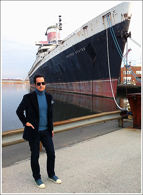 James Andrew with the SS United States