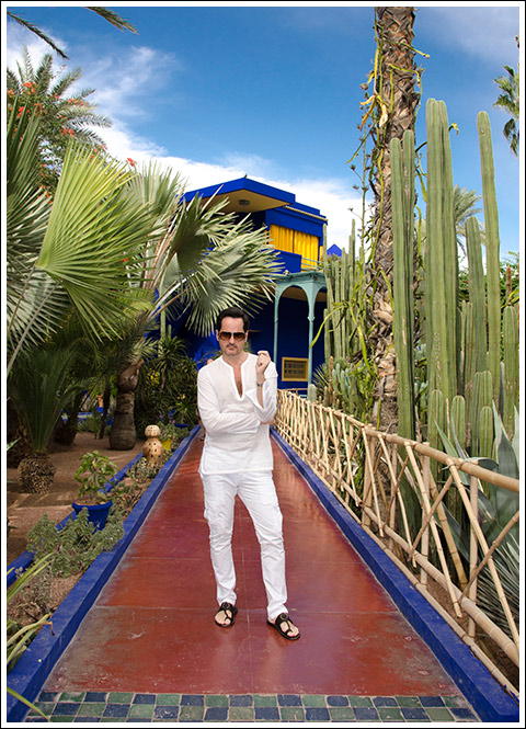 James Andrew at Jardin Majorelle - photo Gabriel Everett