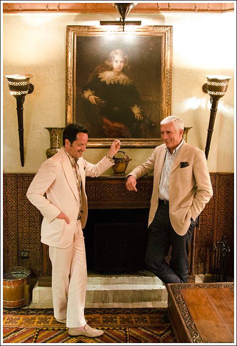 James Andrew with Prince Fabrizio Ruspoli di Poggio Suasa - Photo Gabriel Everett