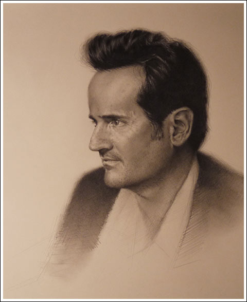 drawing by Jesse Stern - 'James Andrew,'  graphite on paper, 17 x 14, 2012