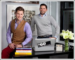 @60 Founders,  Kipton Cronkite and Christian Simonds.