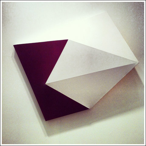 "Charles Hinman's ""Rubellite"" at the Marc Straus booth"