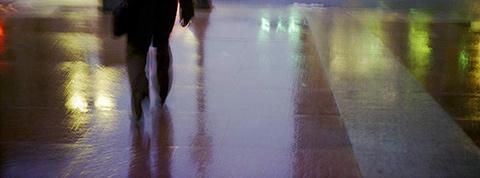 Untitled (Boston, walking) c-type chromogenic print,  by Coster Scott, 2013