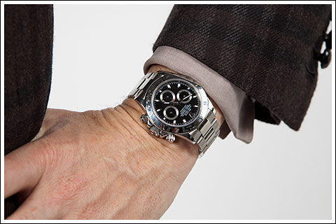 James Andrew and Rolex Daytona - photo Zenith Richards