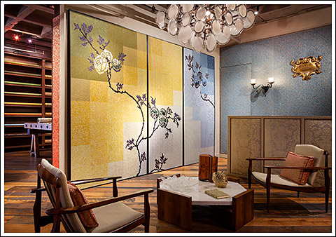 The Fortuny showrooms.
