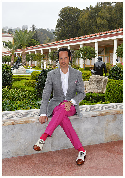 James Andrew at the Getty Villa