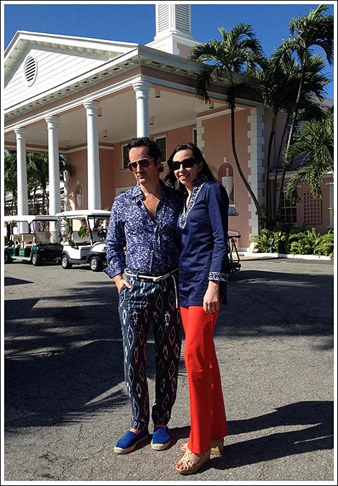 Jennifer Boles with James Andrew at Lyford