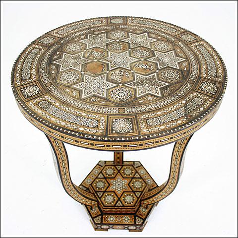 Syrian Art Deco Inlaid table.