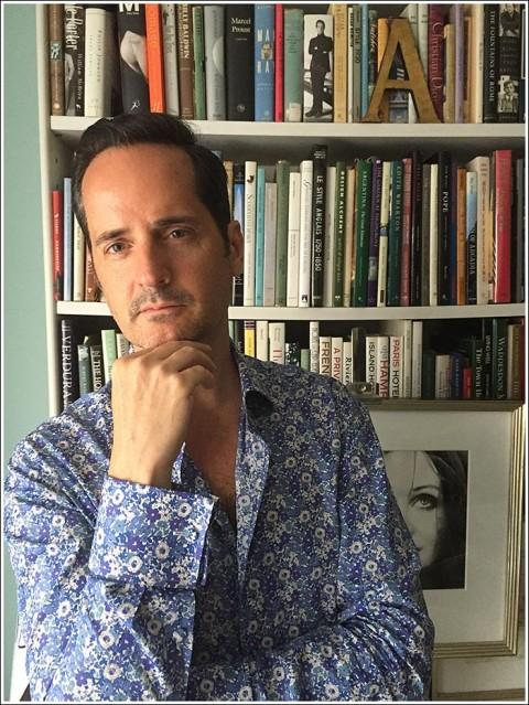 James Andrew in a shirt by Mark Pomerantz