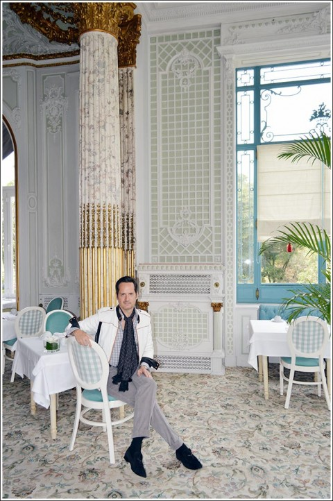 James Andrew at the Pestana Palace hotel treillage dining room.