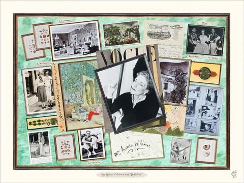 "Mrs. Harrison Williams at home ""Blythedunes"" by Jean-Charles de Ravenel"