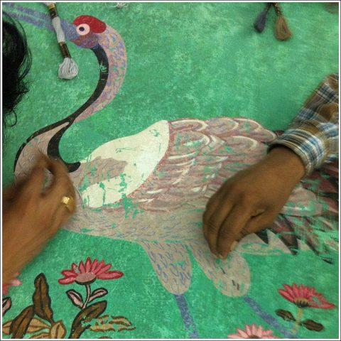 Embroidering Coramandel - D'Ascoli & Company