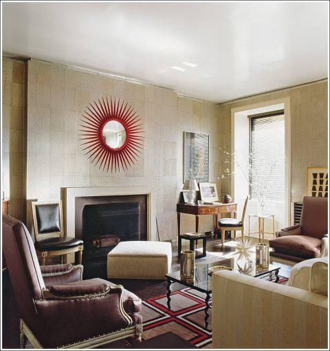 Albert Hadley's New York living room
