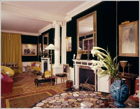 The drawing room at 8 Pelham Place. 1962