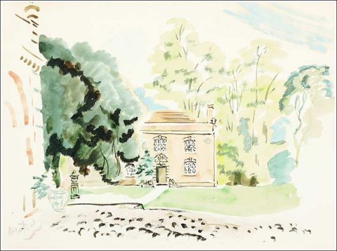 Watercolor of Ashcombe by Cecil Beaton